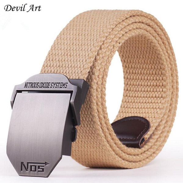 "2016 New Arrival Men's Canvas Belt ""NO5"" Buckle Military Belt Army Tactical Belts for Male Top Quality Men Strap Free Shipping"