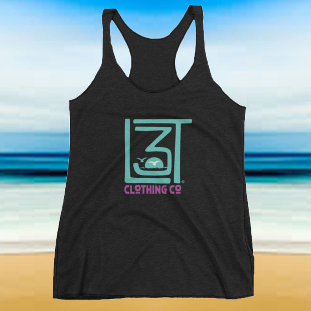 3LT Clothing Co Racerback Tank - Seagull Sunset