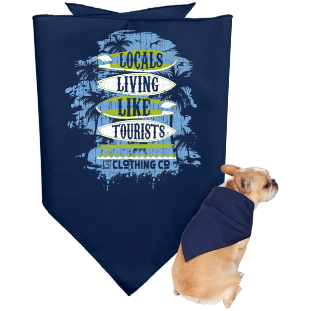 LLLT Doggie Bandana - Surfs Up - Locals Living Like Tourists, LLLT Doggie Bandana - Surfs Up - 3LT, CustomCat - 3LT, [product-vendor] Locals Living Like Tourists, Locals Living Like Tourists - 3LT, Locals Living Like Tourists - Locals Living Like Tourists, Locals Living Like Tourists - L3T