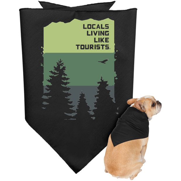 LLLT Doggie Bandana - Pines - Locals Living Like Tourists, LLLT Doggie Bandana - Pines - 3LT, CustomCat - 3LT, [product-vendor] Locals Living Like Tourists, Locals Living Like Tourists - 3LT, Locals Living Like Tourists - Locals Living Like Tourists, Locals Living Like Tourists - L3T