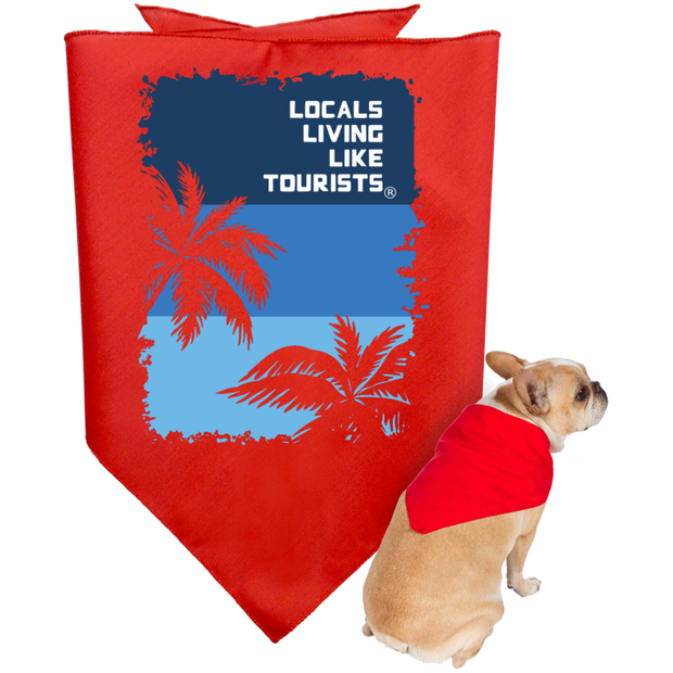 LLLT Doggie Bandana - Blue Palms - Locals Living Like Tourists, LLLT Doggie Bandana - Blue Palms - 3LT, CustomCat - 3LT, [product-vendor] Locals Living Like Tourists, Locals Living Like Tourists - 3LT, Locals Living Like Tourists - Locals Living Like Tourists, Locals Living Like Tourists - L3T