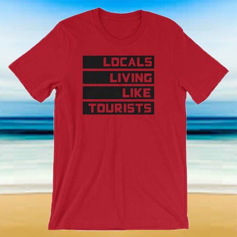 Locals Living Like Tourists Black Block Tee