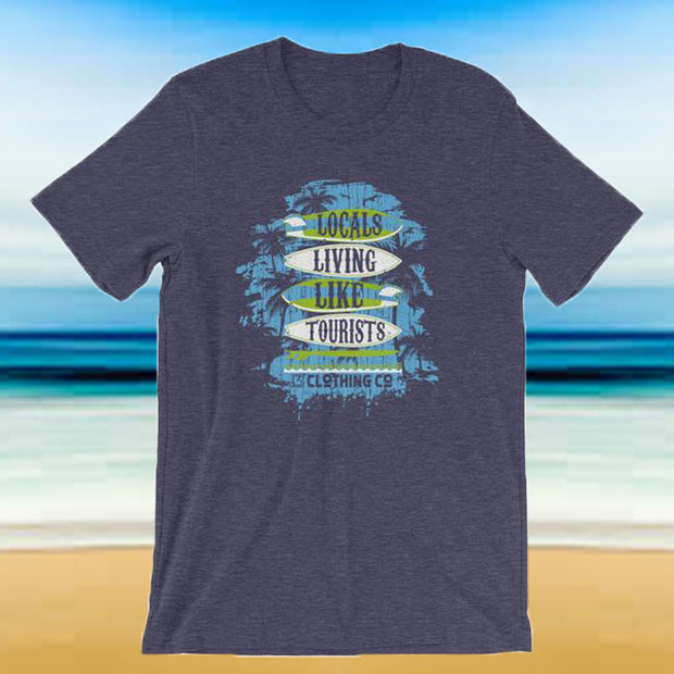 Locals Living Like Tourists Surf Tee - Green & Blue - Locals Living Like Tourists, Locals Living Like Tourists Surf Tee - Green & Blue - 3LT, Locals Living Like Tourists - 3LT, [product-vendor] Locals Living Like Tourists, Locals Living Like Tourists - 3LT, Locals Living Like Tourists - Locals Living Like Tourists, Locals Living Like Tourists - L3T