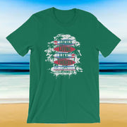 Locals Living Like Tourists Surf Tee - Red & Blue