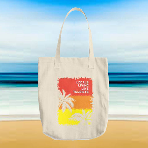 Locals Living Like Tourists Sunset Palms Tote