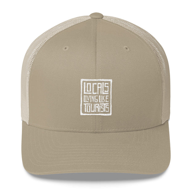 Locals Living Like Tourists Throwback Trucker Cap - Locals Living Like Tourists, Locals Living Like Tourists Throwback Trucker Cap - 3LT, Locals Living Like Tourists - 3LT, [product-vendor] Locals Living Like Tourists, Locals Living Like Tourists - 3LT, Locals Living Like Tourists - Locals Living Like Tourists, Locals Living Like Tourists - L3T