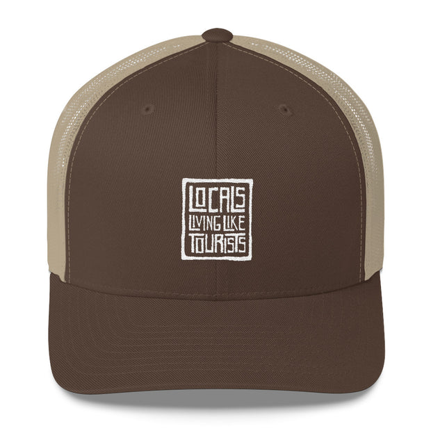 Locals Living Like Tourists Throwback Trucker Cap