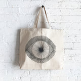 Tote Canvas: Dark Grey Eye