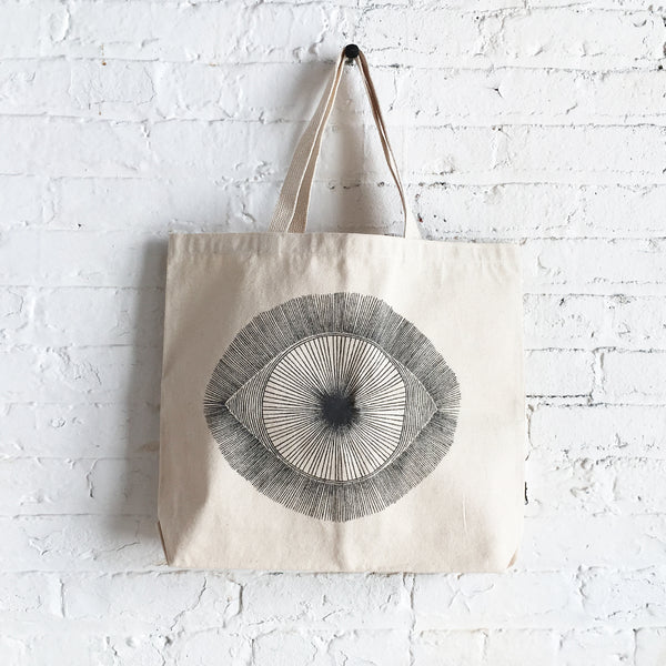 Bag Canvas: Dark Grey Eye