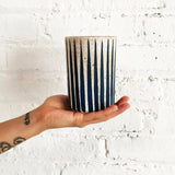 Candle: Stripes Indigo