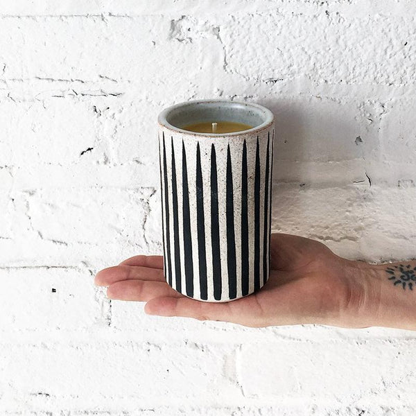 Candle: Black Stripes