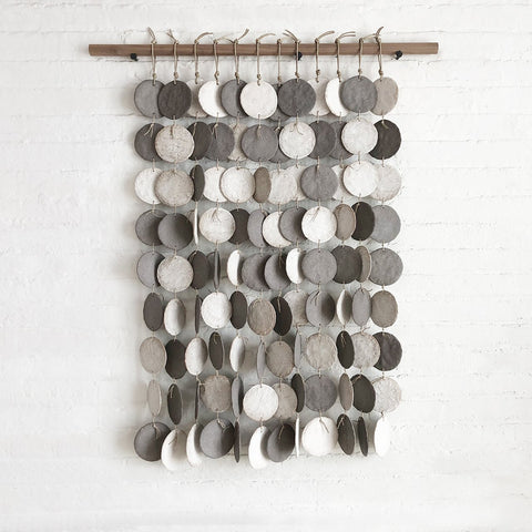 Curtain Discs: Grey & White
