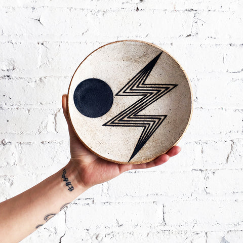 Dish Large: Lightning Bolt Indigo