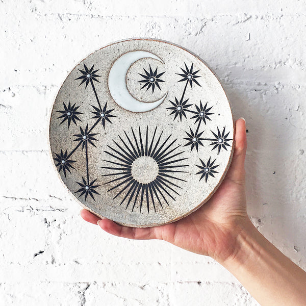 Dish Large: Sun Moon Stars