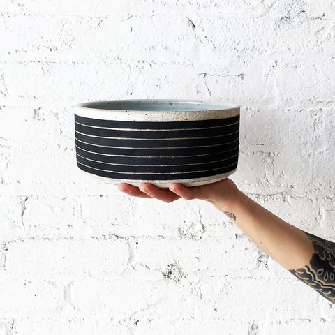 Dog Bowl: Black Rings