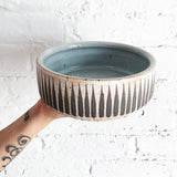Dog Bowl: Grey Stripes