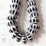 Garland27: Indigo Stripe Pared Beads