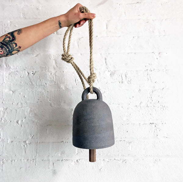 Thrown Bell Round: Grey
