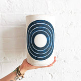 Vessel Tall: Indigo Rings