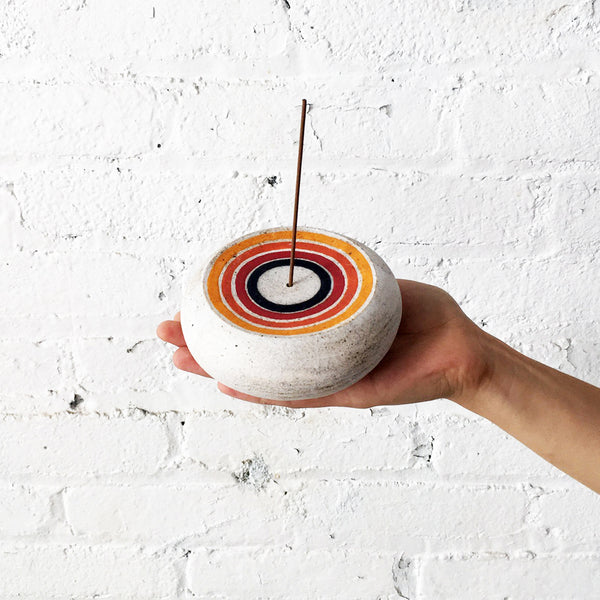Incense Burner: Rainbow Rings