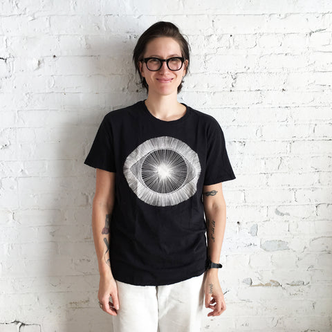 T-Shirt: Black w/ White Eye
