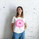 T-Shirt: White w/ Pink Eye