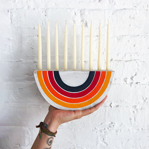 Menorah: Rainbow Rings