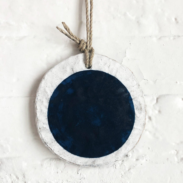 Ornament Large Round: Full Moon Indigo