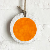 Ornament Large Round: Full Moon Marigold