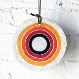 Ornament Large Round: Rainbow Rings
