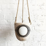 Hanging Planter: New Eye White