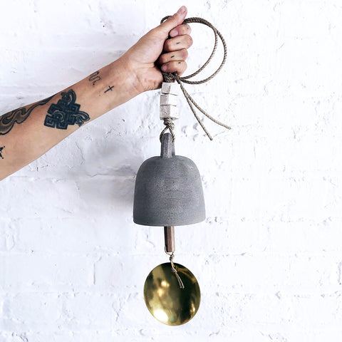 Thrown Bell Round: Grey with Brass Disc