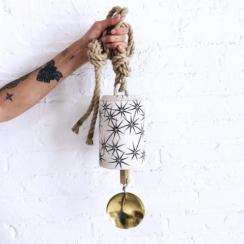 Thrown Bell Tall: Constellations w/ Brass Disc