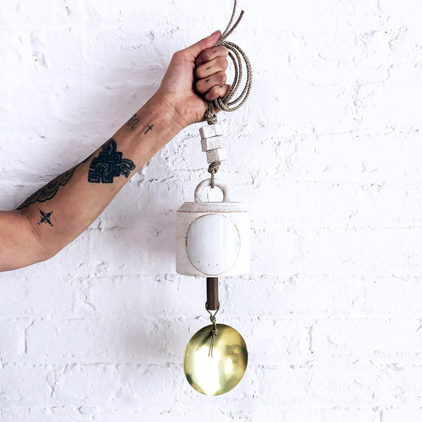 Thrown Bell Wide: Full Moon with Brass Disc