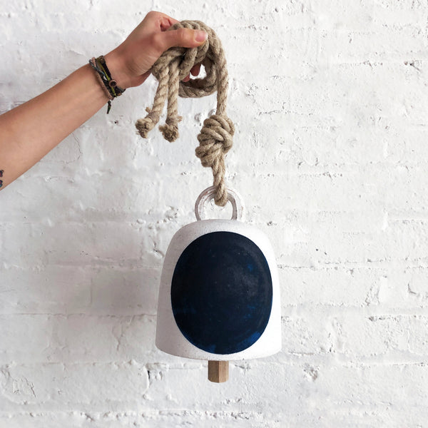 Thrown Bell Round: Full Moon Indigo