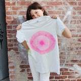 T-Shirt: White with Pink Eye