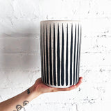 Vessel Tall: Black Stripes