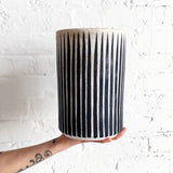 Vessel Tall: Indigo Stripes