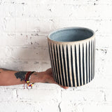 Vessel Wide: Black Stripes