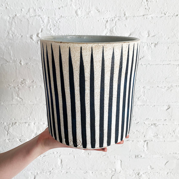Vessel Wide: Stripes Indigo
