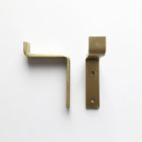 Hardware: Brass Bracket Wall Mount