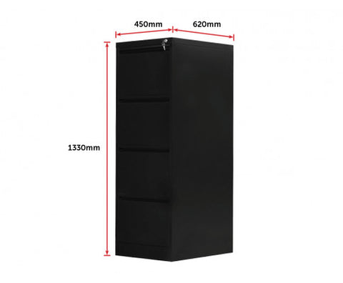 4 Drawer Office Filing Storage Cabinet