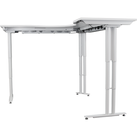 Arise Electrical Corner Height Adjustable Standing Desktop - Buy Online Now At Active Offices