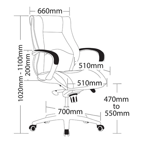 Image of Ergonomic Camry Executive Office Chair - Buy Online Now At Active Offices