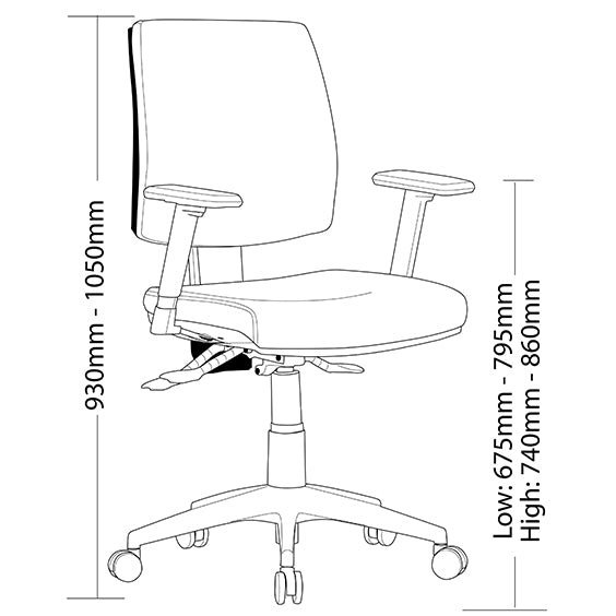 Ergonomic Click Range Office Chair - Buy Online Now At Active Offices
