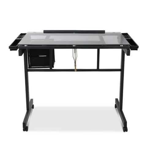 Artiss Adjustable Glass Drawing Desk - Buy Online Now At Active Offices
