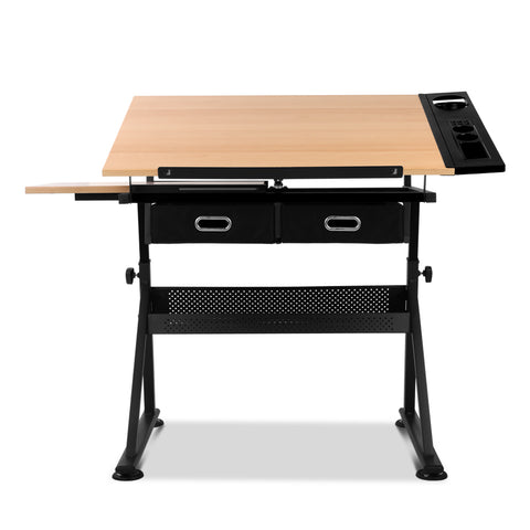Image of Wooden Tilting Drafting Drawing Table And Stool Set - Buy Online Now At Active Offices