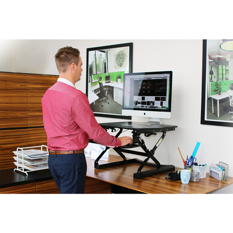 Image of Arise Deskalator Workstation With Free Anti-Fatigue Standing Mat - Buy Online Now At Active Offices