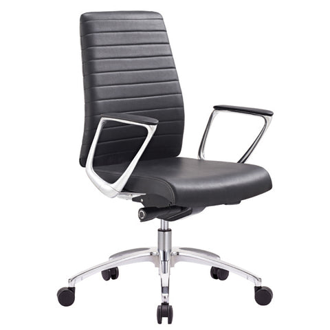 Classy Executive Ergonomic Leather Ribbed Enzo Executive Office Chair - Buy Online Now At Active Offices