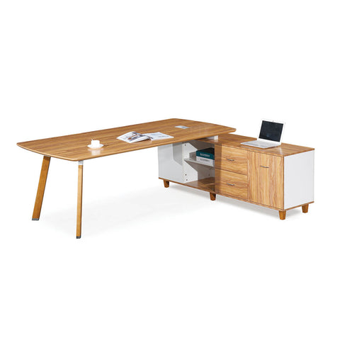 Arbor Range Modern American Walnut Executive Corner Workstation With Drawers - Buy Online Now At Active Offices